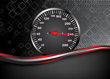 Vector car speedometer. Abstract background. Clip-art Royalty Free Stock Photos