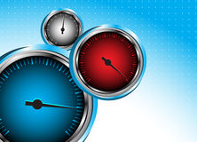 Vector car speedometer. Abstract background Stock Images