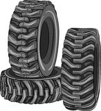 Vector car tires. Royalty Free Stock Photography