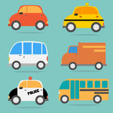 Vector of Car vehicle set Royalty Free Stock Photo