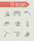 Vector Car wash icon set Stock Photography