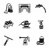 Vector Car wash icon set Stock Image