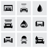 Vector car wash icons set Royalty Free Stock Photo