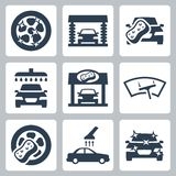 Vector car wash icons set Stock Image