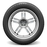 Vector Car Wheel Royalty Free Stock Photography