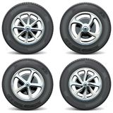 Vector Car Wheels Side View Stock Photos
