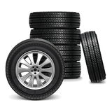 Vector Car Wheels Royalty Free Stock Photography