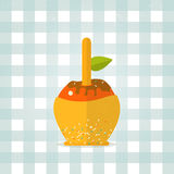 Vector caramel apple icon in flat style Royalty Free Stock Photography