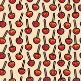 Vector caramelized apples with different toppings pattern Royalty Free Stock Photo