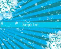 Vector Card. Vector light blue with place for text Stock Illustration