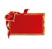 Vector card. To st. valentine's day season isolated on white Royalty Free Stock Photography