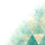 Geometric card. Vector card with abstract geometric ornament Stock Photo