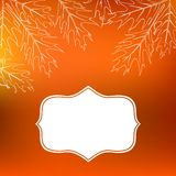 Vector card with autumn decor and leafs Royalty Free Stock Photos