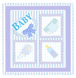 Vector card for baby boy Royalty Free Stock Photography