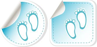 Vector card for baby boy stickers set Stock Image