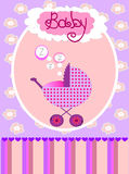 Vector card for baby girl Royalty Free Stock Photo