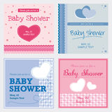 Vector card baby shower Royalty Free Stock Photo