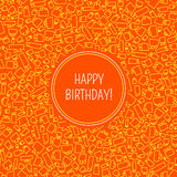 Vector card with birthday Stock Images