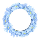 Vector card with blue flowers. Eps-10. Royalty Free Stock Photo