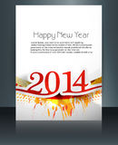 Vector card brochure presentation Happy New Year 2. 014 background Royalty Free Stock Photography