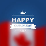 Vector card for Canada Day. Illustration for 1st of July Canada Independence Day with flag and maple leaf Stock Images