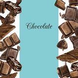 Vector card with chocolates drawing by watercolor Royalty Free Stock Images
