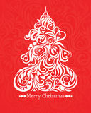 Vector card with christmas tree Stock Images