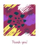 Vector card with color ink brushes grunge pattern. Hand drawing background . Greeting card with abstract texture royalty free illustration