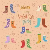 Vector card with colorful socks royalty free illustration