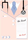 Vector card doctors lab coat uniform Stock Images