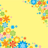 Vector card with flowers Stock Photos