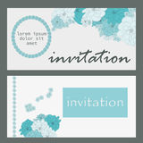 Vector Card with flowers, can be used as invitation card for wedding, birthday and other holiday and  summer background. Stock Photos