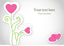 Vector card with flowers. Valentine. Royalty Free Stock Photography