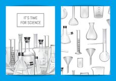 Vector card, flyer or brochure template for chemical lab vector illustration