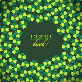 Vector card with good luck wish Royalty Free Stock Photos