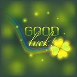 Vector card with good luck wish Stock Image