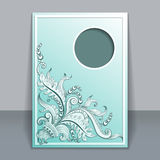 Vector card with hand-drawing ornaments. Vector invitation card with filigree hand-drawing ornaments for design Royalty Free Stock Photography