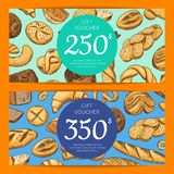 Vector card with hand drawn bakery stock illustration