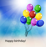 Vector card for happy birthday Stock Photo