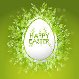 Vector card Happy Easter. Floral frame with leaves Stock Images