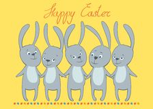 Vector card happy Easter frame Stock Image