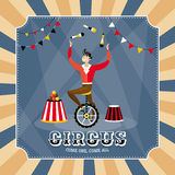 Vector card with a juggler Royalty Free Stock Images