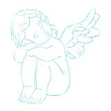Vector card little angel Stock Images