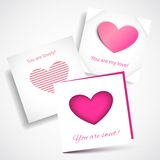 Vector Card Love Pink Stock Photography