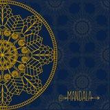 Vector card with mandala. Vector background. Ethnic decorative e Stock Photo