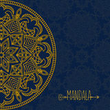Vector card with mandala. Vector background. Ethnic decorative  Royalty Free Stock Photography