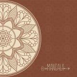 Vector card with mandala. Vector background.  Royalty Free Stock Photos