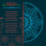 Vector card with mandala. Vector background. Stock Photography