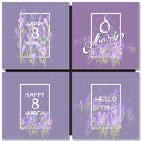 Vector card for 8 march. International Women Day Royalty Free Stock Image