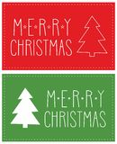 Vector card with Merry Christmas wishes Stock Photography
